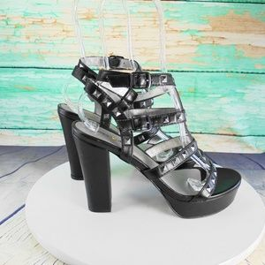 Seven Dials Shoes - Seven Dials Newel Chunky Heel Strappy Sandals